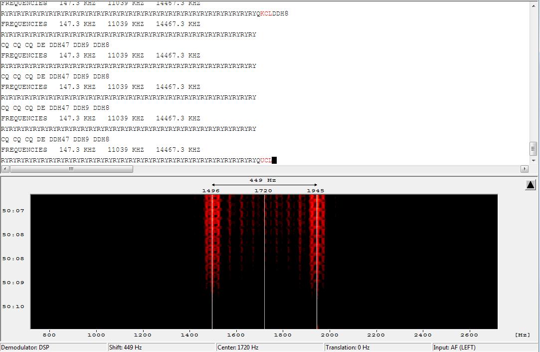 Tuning FSK Signals